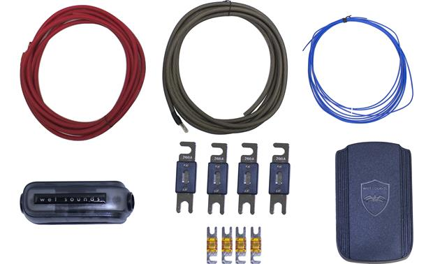 Wet Sounds Marine Amp Wiring Kit 4 Gauge Kit With Fuse Holderpower
