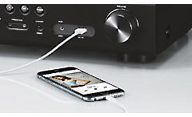 Yamaha RX-V779 Front-panel USB connection for iPod or iPhone (not included)