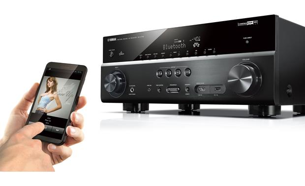 Yamaha RX-V779 Built-in Bluetooth lets you stream music wirelessly from a compatible device