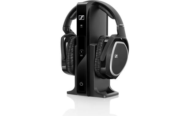 Sennheiser RS 165 The transmitter connects to your TV's headphone jack and sends audio wirelessly to the headset