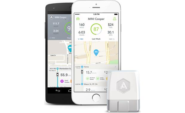 Automatic Car Adapter and Car Apps Automatic logs your trips and scores your driving efficiency.