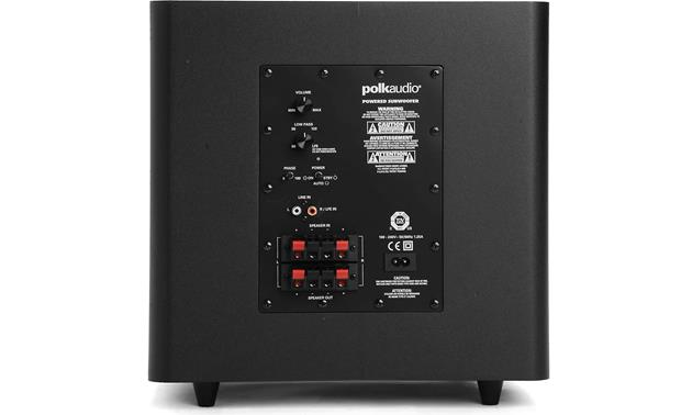 polk audio psw110 black powered subwoofer at crutchfield com Speaker Wire Subwoofer to RCA