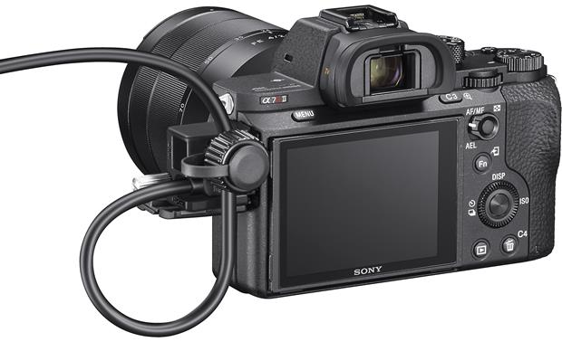 Sony Alpha a7R II (no lens included) Clean HDMI output with cable protector allows uncompressed movie output