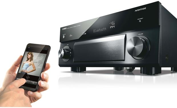 Yamaha AVENTAGE RX-A1050 Built-in Bluetooth lets you stream music wirelessly from a compatible device