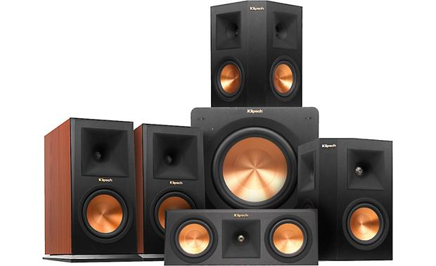 klipsch home speakers. klipsch rp-160 5.1 home theater speaker system classic sound for your speakers r