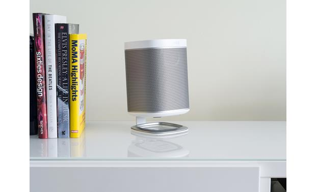 Sonos Play:1 Show with the Flexson Desk Stand (sold separately)