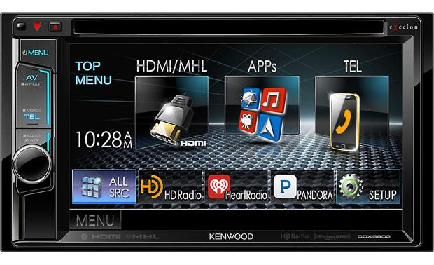 Kenwood Excelon DDX5902 Control your smartphone's apps, Bluetooth, and HD Radio from the touchscreen display