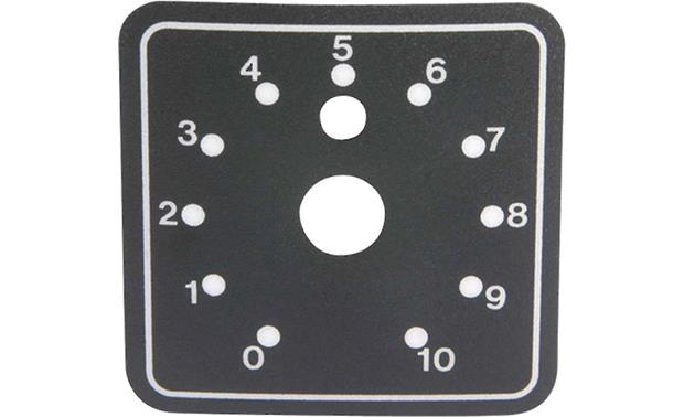 AtlasIED Attenuator Rack Mounting Plate 6 dial scales included