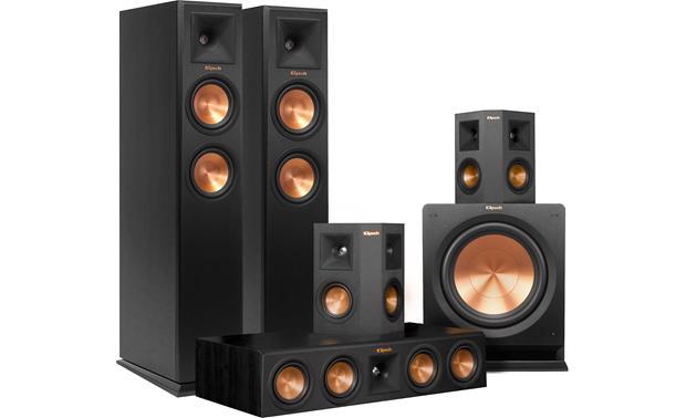 klipsch klipsch rp 250 5 1 home theater speaker system ebony front center featuring high. Black Bedroom Furniture Sets. Home Design Ideas