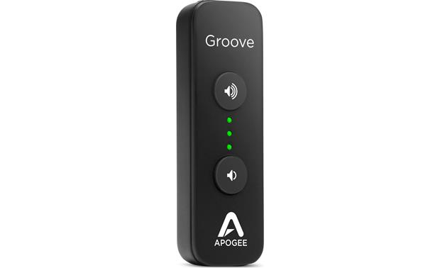 Apogee Groove Top mounted volume control for easy operation