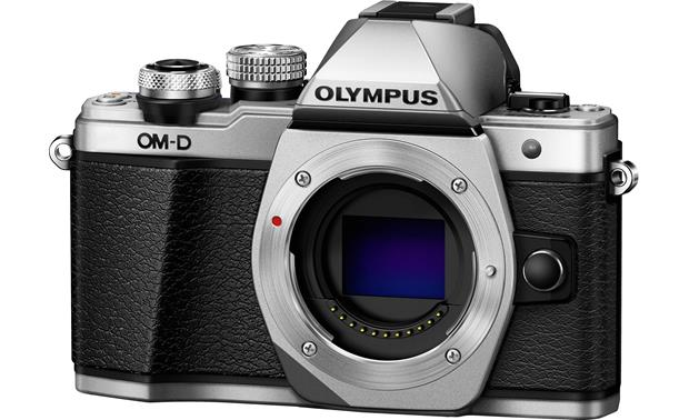 Olympus OM-D E-M10 Mark II (no lens included) Angled view