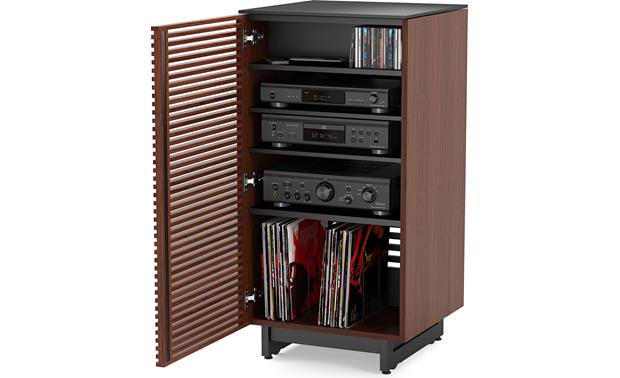 BDI Corridor 8172 Chocolate Stained Walnut - with left-mounted door (media and components not included)
