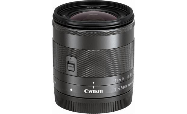 Canon EF-M 11-22mm f/4-5.6 STM Front with rear lens cap on