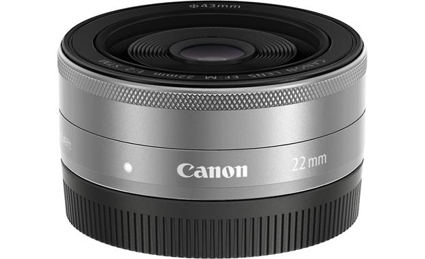 Canon EF-M 22mm F/2.0 STM Front with rear lens cap on
