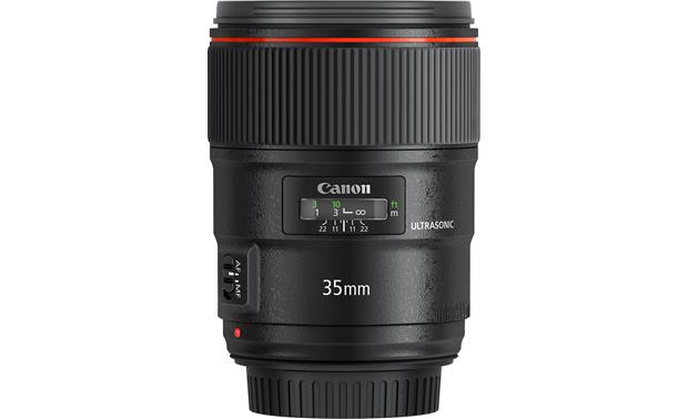 Canon EF 35mm f/1.4L II USM Side with rear lens cap on