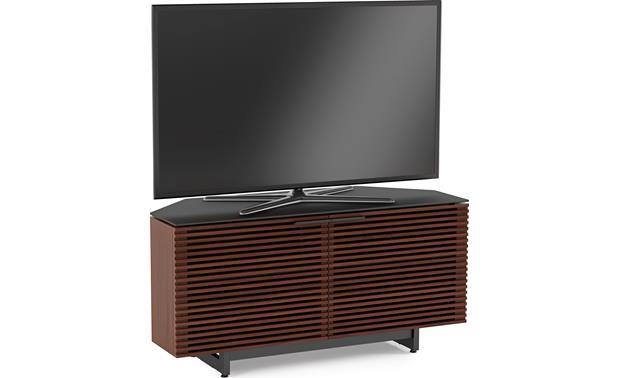 BDI Corridor 8175 Chocolate Stained Walnut - left front (TV not included)