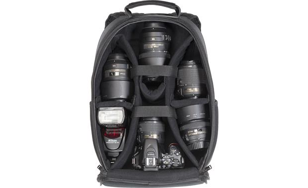 Nikon Compact Backpack Camera Bag Removable internal divider keeps gear organized (cameras not included)