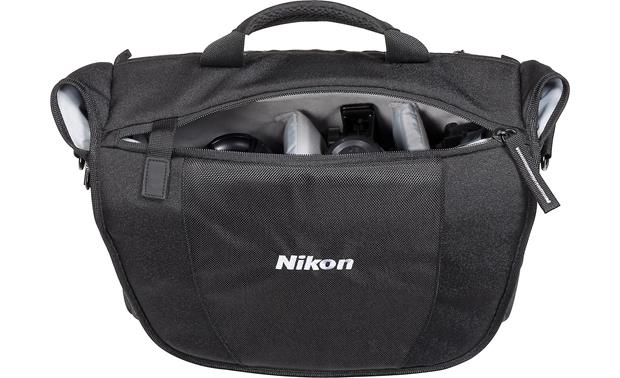 Nikon Courier Bag Zippered top closure for easy access