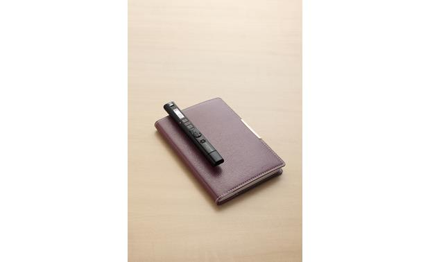 Olympus VP-10 Easily clips to notebook