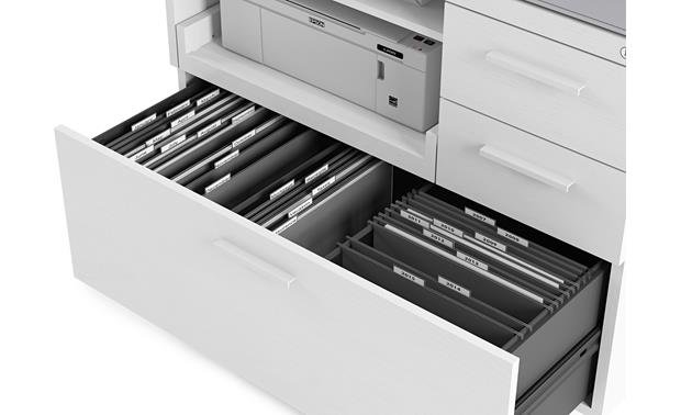 BDI Centro 6417 Hanging file drawer detail (printer and file folders not included)