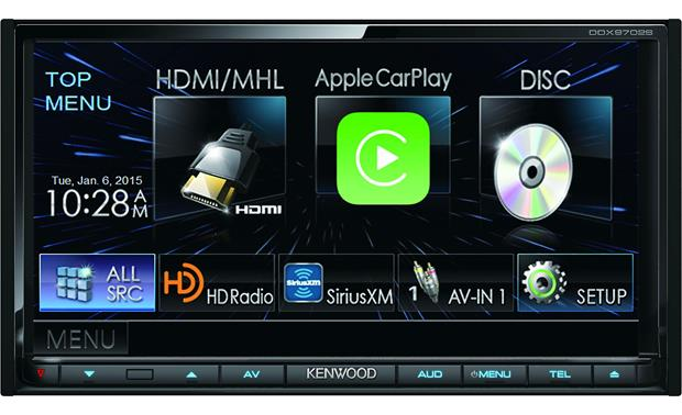 Kenwood DDX9702S Achieve the ultimate display and control over your iPhone or Android