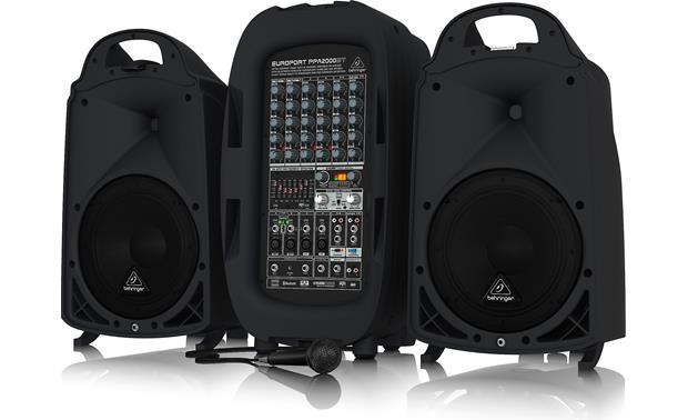 Behringer PPA2000BT The Behringer PPA2000BT portable PA system houses everything you need for a great show into one durable package