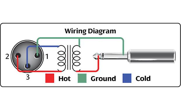Hosa Impedance Transformer Wiring diagram