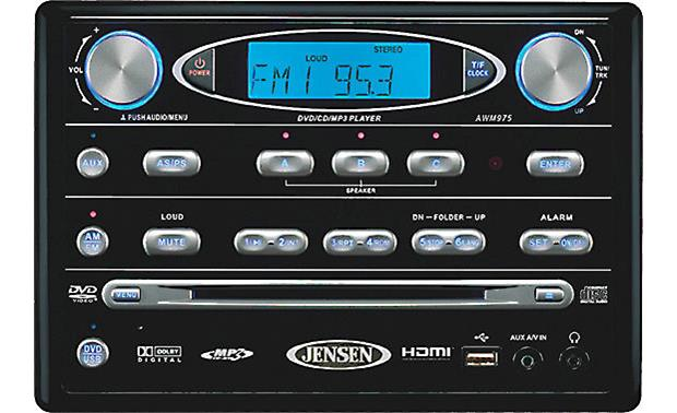 jensen awm975 wall mount dvd receiver for rvs at crutchfield com rh crutchfield com Jensen Marine Speakers Waterproof Radio