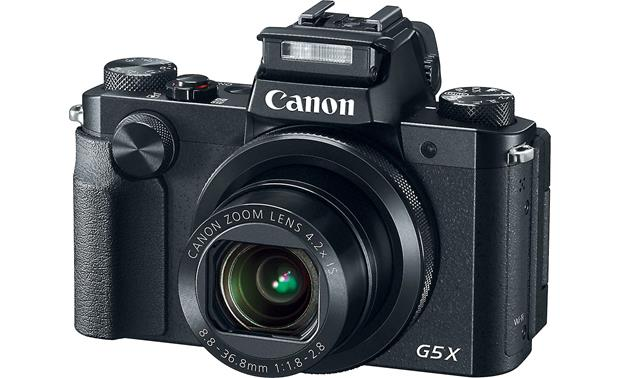 Canon PowerShot G5 X Hot shoe lets you use powered flashes and accessories