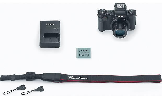 Canon PowerShot G5 X Shown with included accessories