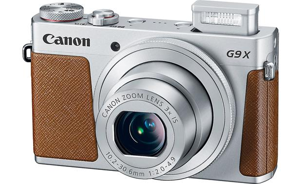 Canon PowerShot G9 X Shown with built-in flash deployed