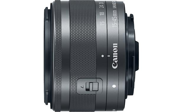 Canon EF-M 15-45mm f/3.5-6.3 IS STM Top view (Graphite)