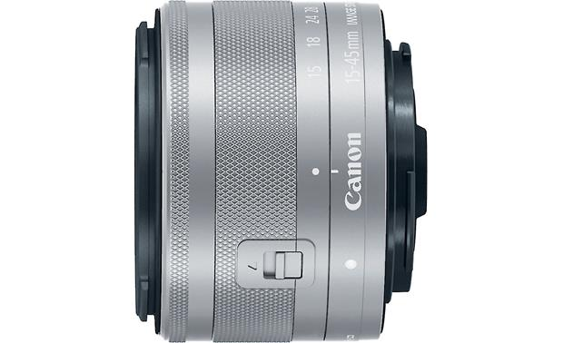 Canon EF-M 15-45mm f/3.5-6.3 IS STM Top view (Silver)