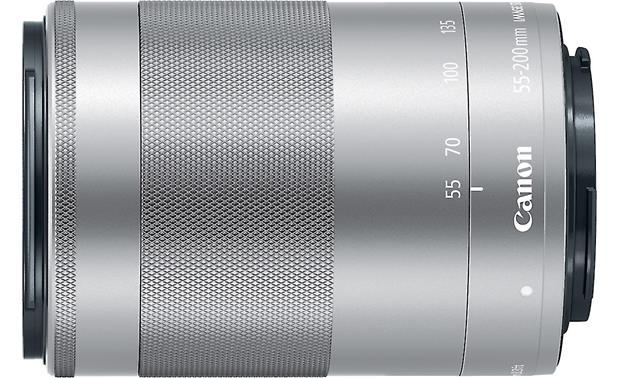 Canon EF-M 55-200mm f/4.5-6.3 IS STM Top view (Silver)