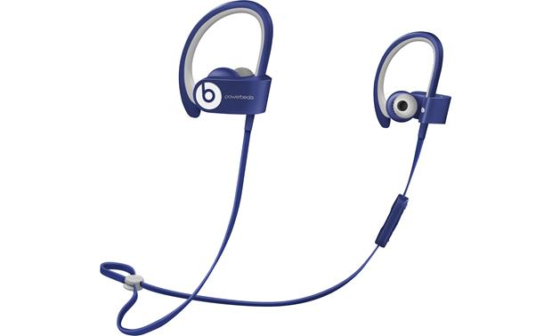 Beats By Dr Dre Powerbeats2 Wireless Blue In Ear Sports Headphones With Bluetooth At Crutchfield