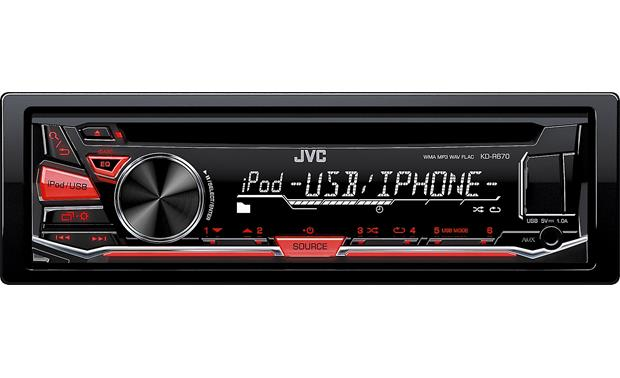JVC KD-R670 Connect an iPhone® or Android™ for lots of music options