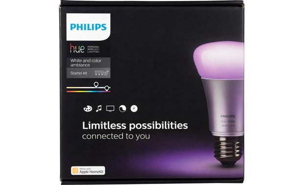 Philips Hue 2.0 A19 White and Color Ambiance Starter Kit Control your lights wirelessly with the Philips Hue app on your phone or tablet
