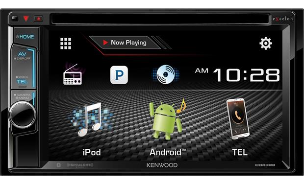 Kenwood Excelon DDX393 Get a better view of your music using the 6.2