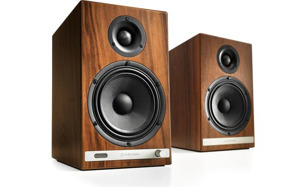Audioengine HD6/TEAC TN-400S Bundle The powered Audioengine HD6 speakers have a furniture-grade walnut finish