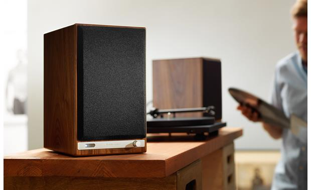 Audioengine HD6 With magnetic grille attached (turntable not included)