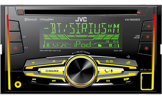 JVC KW-R925BTS Get a splash of color in your dash