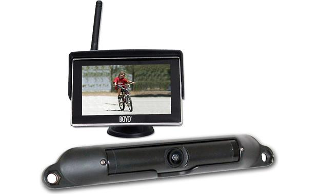Boyo vtc424r wireless rear view camera system with dash mounted boyo vtc424r the boyo vtc424r rear view camera wirelessly sends a video signal to the asfbconference2016 Gallery