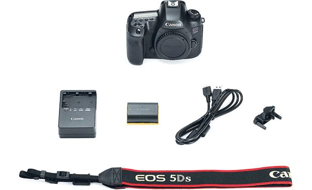 Canon EOS 5DS (no lens included) Shown with included accessories