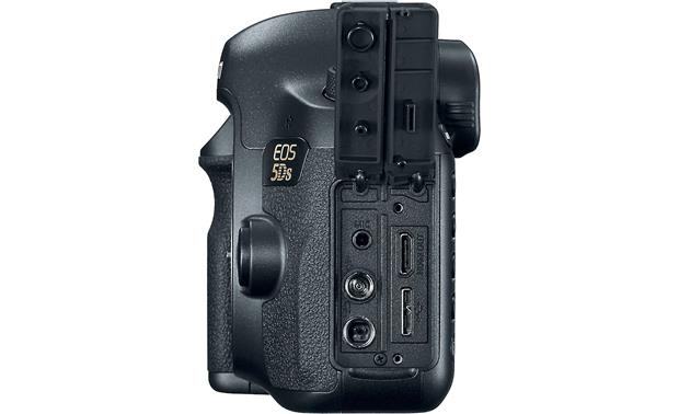 Canon EOS 5DS (no lens included) Left side with connection ports visible