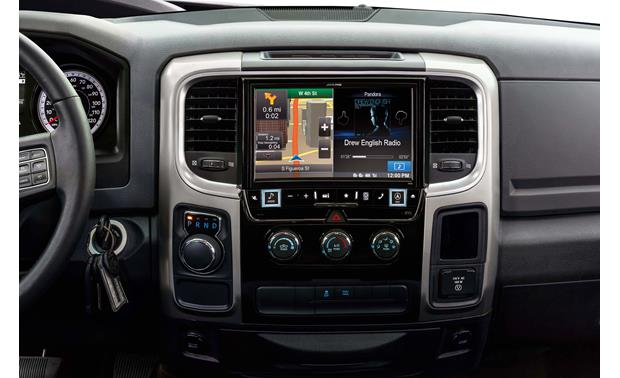 Alpine X009-RAM In-Dash Restyle System The installed Restyle system offers a 9