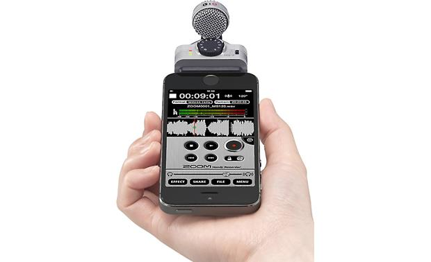Zoom iQ7 Oriented for audio recording (iPhone not included)