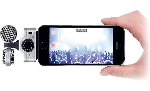 Zoom iQ7 Oriented for video recording (iPhone not included)