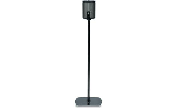 Flexson Floor Stand (pair) Black - back view (Sonos PLAY:1 not included)
