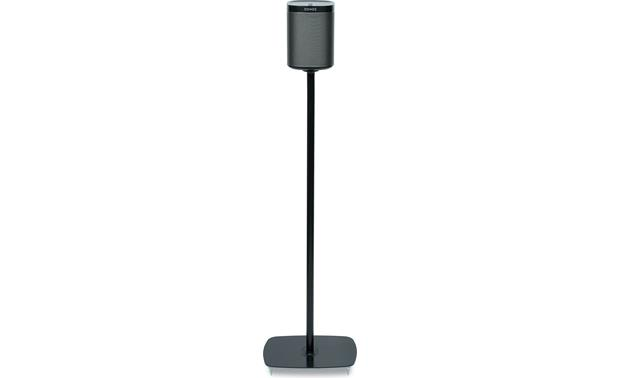 Flexson Floor Stand (pair) Black - front view (Sonos PLAY:1 not included)