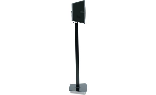 Flexson Floor Stand Black - profile with speaker set vertically (Sonos PLAY:3 not included)
